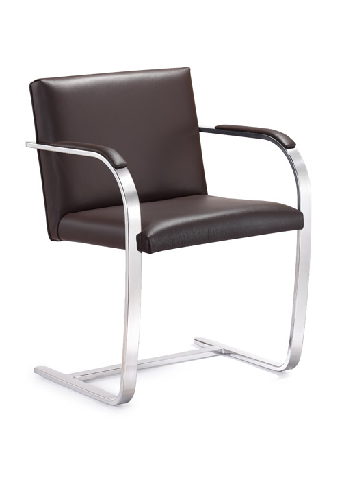 Arlo Italian top grain leather side chair