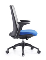 Creedence blue task chair with grey meshr